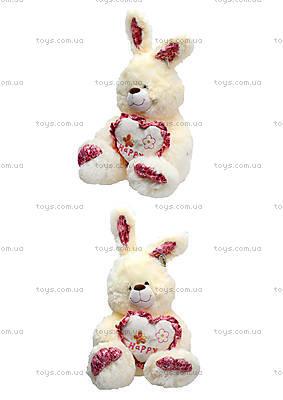 Плюшевый зайчик с сердечком, 642850