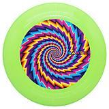 Зеленая летающая тарелка-фрисби, 0343, детский