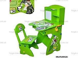 Зеленая парта со стульчиком Ben 10, M0434