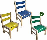 Зеленый деревянный стульчик, 04-010GR, Украина
