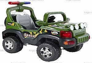 Зеленый электромобиль-джип на р/у, J-018
