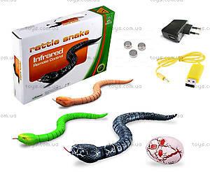 Змея Rattle Snake на инфракрасном управлении, черная, LY-9909A, игрушки