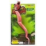 """Змея-тянучка """"Кобра"""" розовый (W6328-176), W6328-176, фото"""