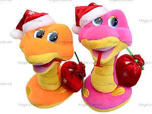 Игрушечная змея в новогоднем колпаке, M-ZY102416, купить