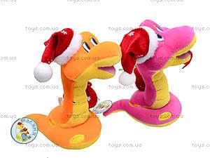 Игрушечная змея в новогоднем колпаке, M-ZY102416, фото