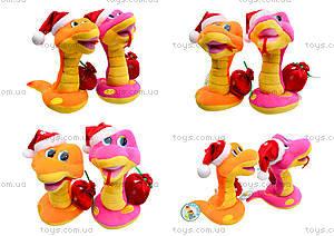 Игрушечная змея в новогоднем колпаке, M-ZY102416