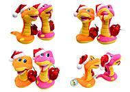 Игрушечная змея в новогоднем колпаке, M-ZY102416, тойс