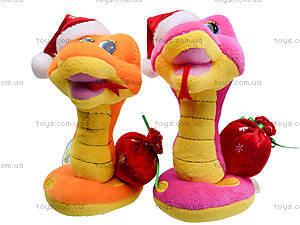 Игрушечная змея в новогоднем колпаке, M-ZY102416, цена
