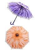 Матовый зонт «Цветок» со свистком, F17814, фото