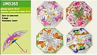 Зонт прозрачный 4 вида 65 см, UM5265, toys.com.ua