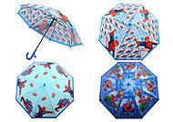 Зонт со свистком серии «Spider-Man», 6 видов, K219, детские игрушки