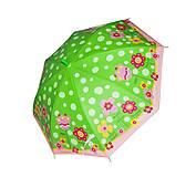 Зонтик «Цветочки» (зеленый), BT-CU-0017, фото