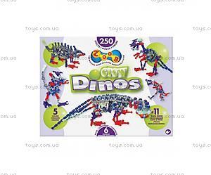Детский подвижный конструктор ZOOB Glow Dino, 14004