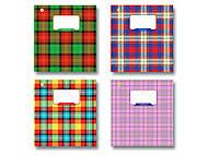 """Тетрадь 12 листов, косая линия """"Шотландка"""", 4 вида (25 штук в упаковке), ТЕ93185, игрушки"""