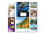 Тетрадь в клетку на 18 листов для мальчиков (20 штук в упаковке), ТЕ91291, интернет магазин22 игрушки Украина