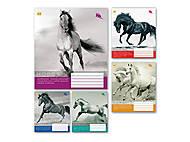 """Тетрадь 36 листов, в линию """"Лошади"""", 5 видов (20 штук в упаковке), ТЕ92480, цена"""