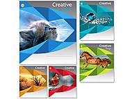 """Тетрадь 36 листов, в линию """"Креатив"""", 5 видов (20 штук в упаковке), ТЕ92483, фото"""