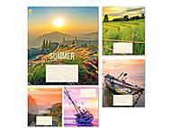 Тетрадь «Лето» в клетку на 48 листов (10 штук в упаковке), ТЕ91580, интернет магазин22 игрушки Украина