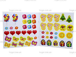 Детская тетрадь «Раскрась и подари» с наклейками, красная, 5353а, купить