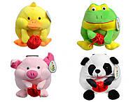 Детские мягкие игрушки с копилкой, 435815