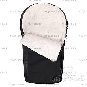 Зимний конверт в коляску Cocoon, черный, 0166-48